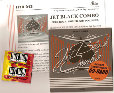 Jet Black Combo promo package...this came with a condom! I can not believe Steve did not mention this...