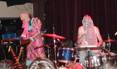 'Friends' fan Skullrider and his wife,  also known as the band Neon Hunk